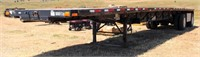 2001 Transcraft TL2000 Super Beam, straight deck, spread axles, tool boxes, 8' x 48', 11R-24.5 tires (view 1)