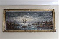 Oil Painting of Desolate Landscape