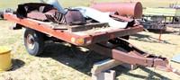 Single Axle Trlr, no title w/Scrap Iron