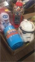 Kid flat - mug, bobble head, candy machine and
