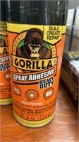 Gorilla spray adhesive 2 cans