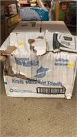 A box of Kraft multifold towels
