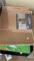 White Board, bulletin board and frame