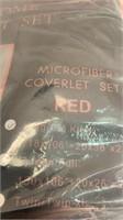 Microfiber coverlet set red