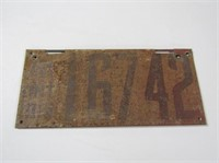 1915 Ontario License Plate