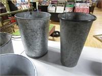 Galvonized Buckets, 1 Sap Bucket