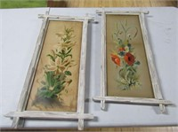 Pair Folk Art Framed Prints