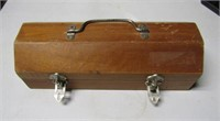 Small Wood Tool Box & Contents