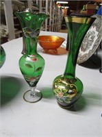 Hand Decorated Bohemian Glass
