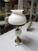 Hobnail Glass Table Light