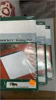 3 packages of writing pads