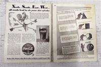 "(2) Coca-Cola ""Red Barrel"" magazines"