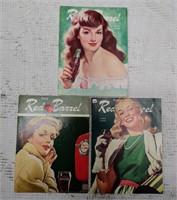 "(3) Coca-Cola ""Red Barrel"" magazines"