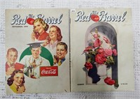 "(2) Coca-Cola ""Red Barrel"" magazines"