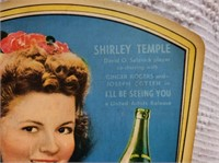 vintage RC Cola-Shirley Temple advertising fan