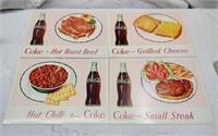 (4) Coca-Cola restaurant advertising signs
