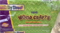 2 boxes of wood craft sticks