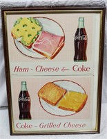 (2) framed Coca-Cola restaurant signs