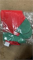 Box of Christmas stockings