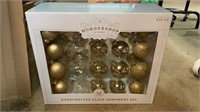 Wonder shop handcrafted glass ornament set