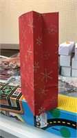 Box of Christmas paper bags