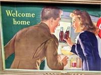 "1944 Coca-Cola sign ""Welcome Home"""