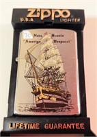 Zippo Amerigo Vespucci lighter - unused