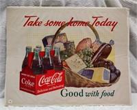 "22""x18"" Coca-Cola print - ""Take Some Home Today"""