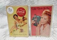 (2) Coca-Cola card decks - 1961 & 1956
