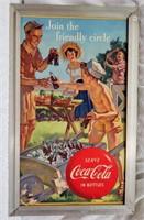 """27""""x16"""" framed Coca-Cola sign"""