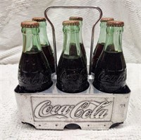 chrome Coca-Cola 6pk. carrier