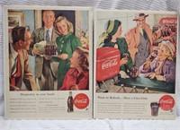 (9) Coca-Cola mags. adv. - 1940's/1950's