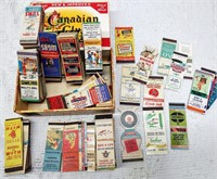 Apx. 300 old matchbook covers from Indiana