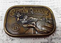 1977 Indiana metalcraft Capt. Quaalude belt buckle