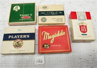 (5) cardboard boxes of cigarettes