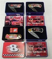 (4) Dale Earnhardt Jr. pocket knives in boxes