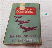 WWII Coca-Cola airplane identificat. playing cards