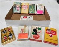 (8) decks of early Coca-Cola playing cards