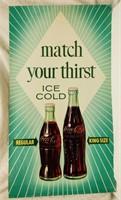 "36""x20"" Coca-Cola litho sign"