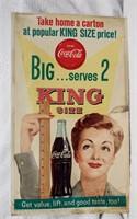 "27""x16"" Coca-Cola litho sign"