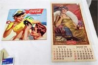 1974 + 2003 Coca-Cola calenders