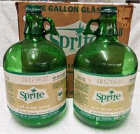 Sprite syrup box with (2) one gallon Sprite jugs