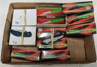 (29) small folding knives