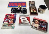 flat of (9) NASCAR items