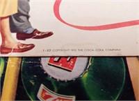(2) Coca-Cola & 7-UP restaurant advertisements