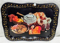black Coca-Cola serving tray