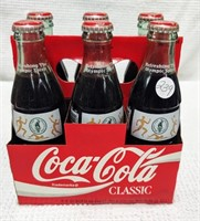 six pack Olympic Coca-Cola bottles