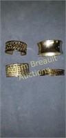 4 assorted bracelets