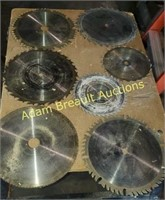 7 assorted circular saw blades