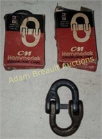 """2 CM 3/8"""" Hammerlok coupling links, new"""